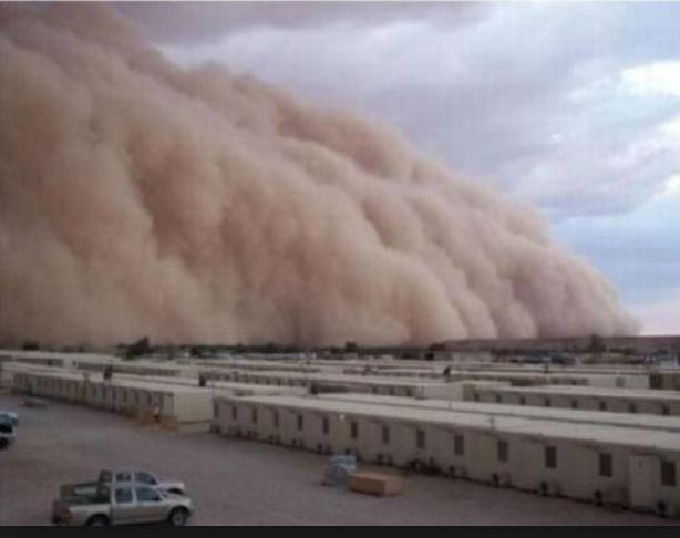 sandstorm kuwait iraq